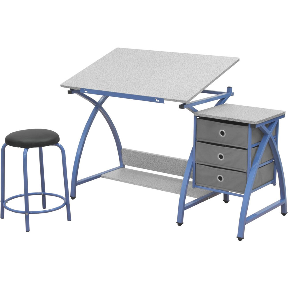 Angled Kids Desk With Stool In Kids Desks